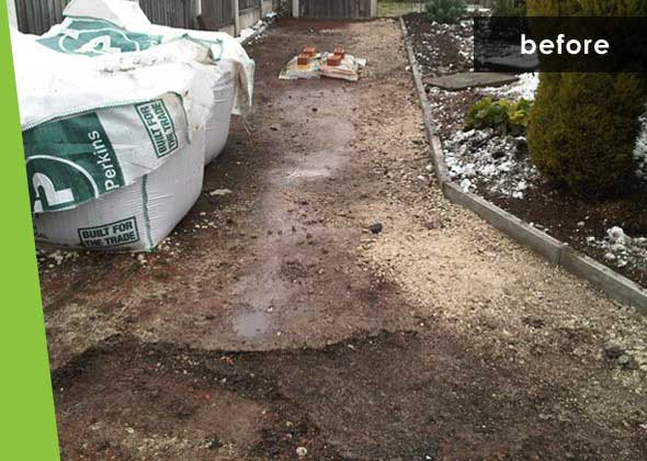 Intex projects - Driveway - before